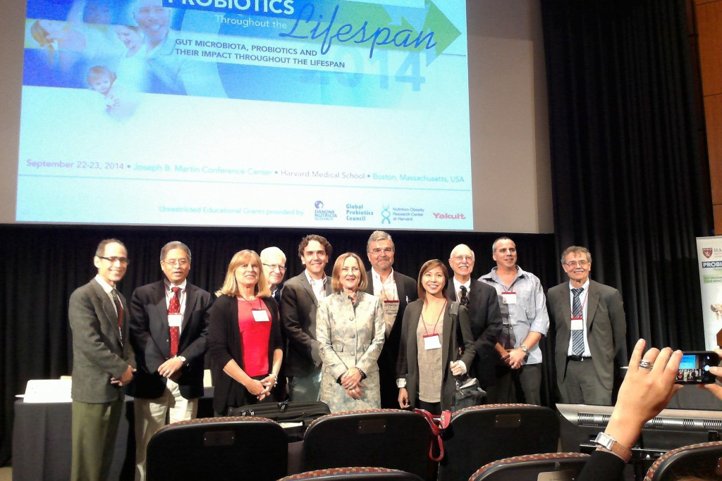 Some of the speakers at the 2014 Harvard Probiotics Symposium. Dr. Erika Isolauri, centre.