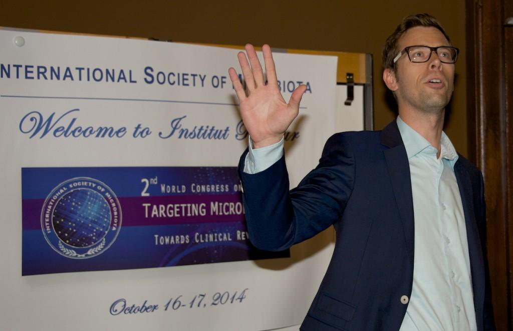 Dr Scheperjans at Targeting microbiota congress 2014
